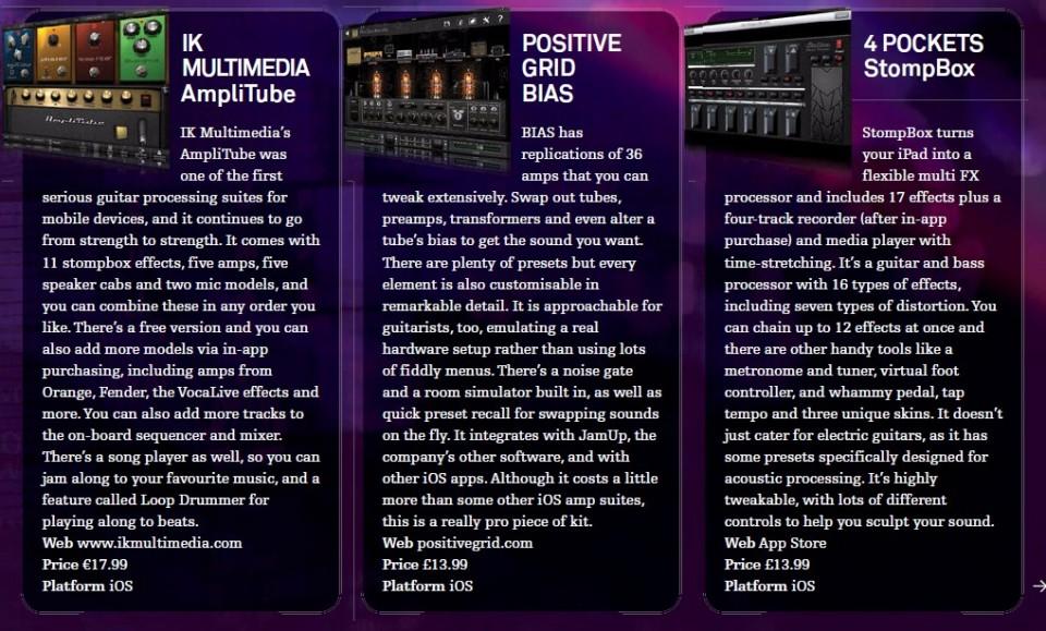 IK Multimedia AmpliTube<br />Positive Grid Bias<br />4 Pockets StompBox