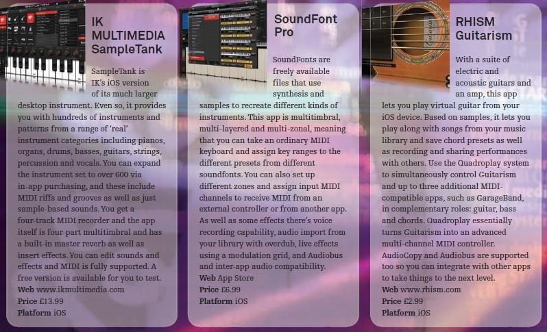 IK Multimedia - SampleTank<br />SoundFont Pro<br />RHISM Guitarism