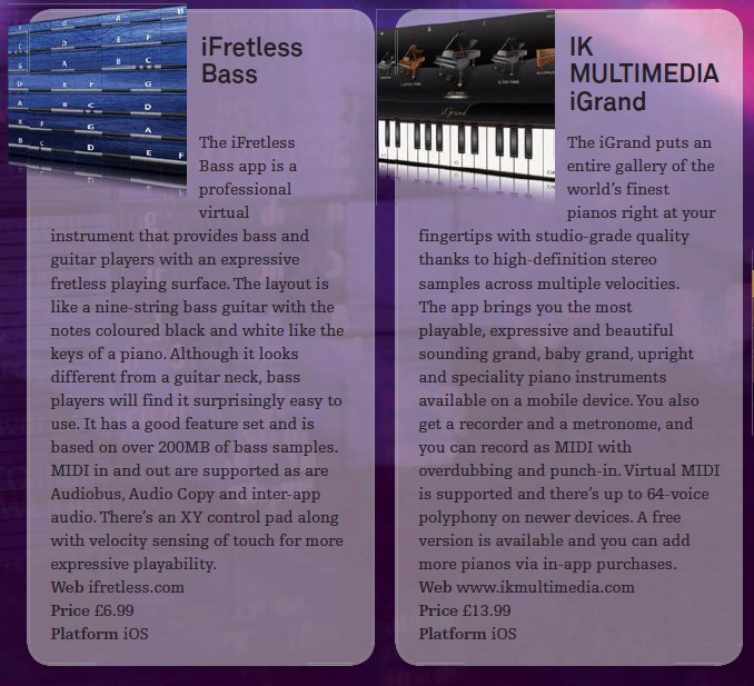 iFretless Bass<br />IK Multimedia iGrand