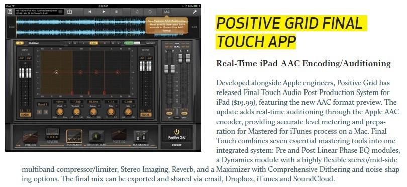 Positive Grid - Final Touch App