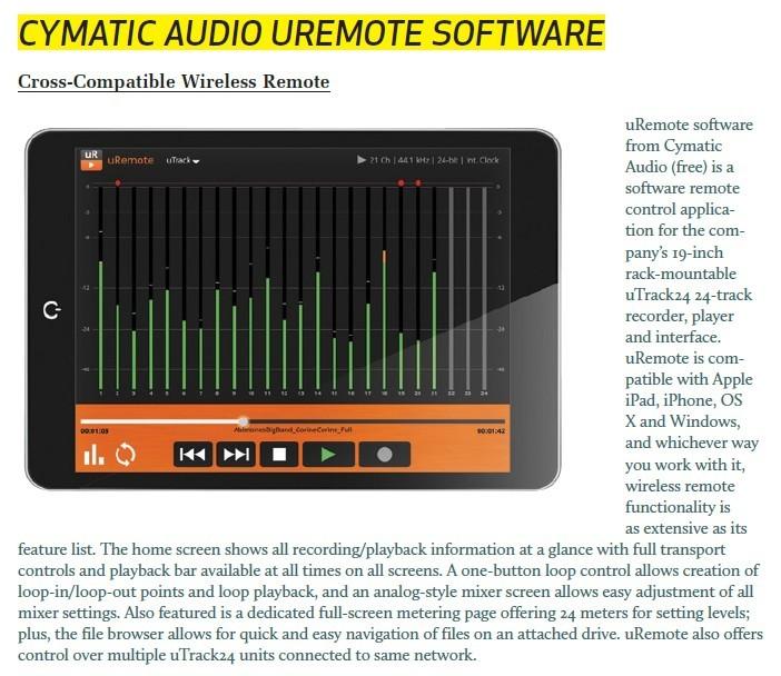 Cymatic Audio Uremote Software