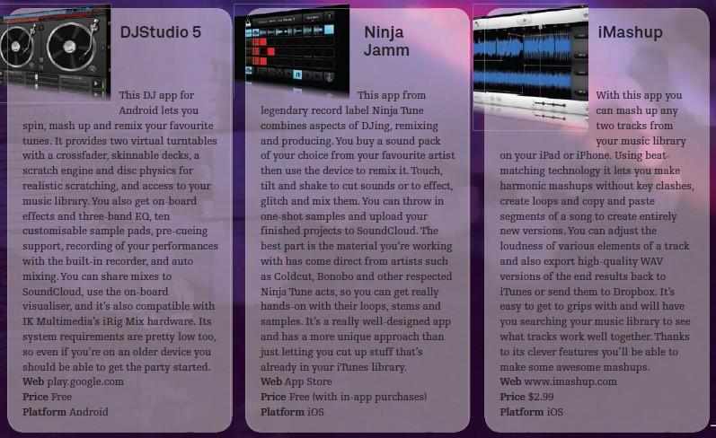 DJ Studio 5<br />Ninja Jamm<br />iMashup