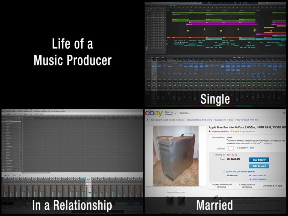 Life Of A Music Producer :)
