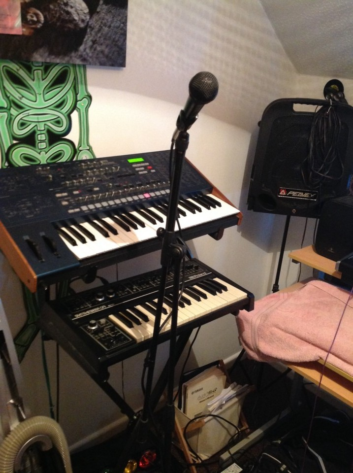 our very humble but powerful studio.A lot of instruments are not featured . i  will send some better quality pics in future