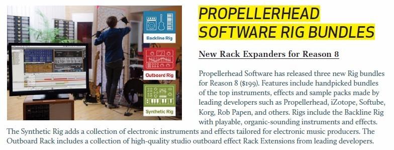 Propellerhead Software Rig Bundles