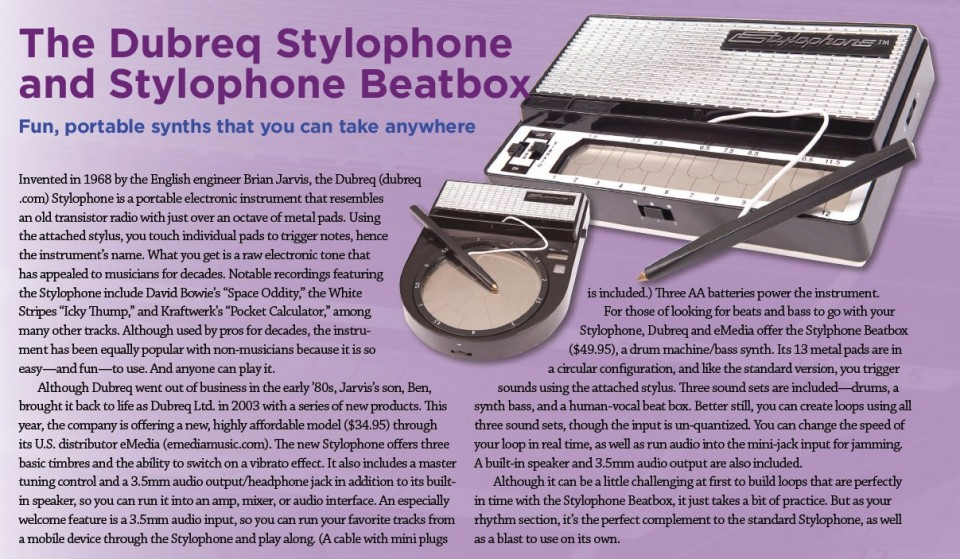 The Dubreq Stylophone and Stylophone Beatbox