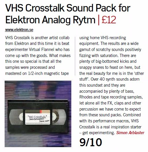 VHS Crosstalk Sound Pack for Elektron Analog Rytm