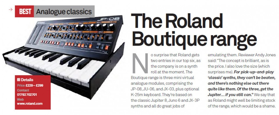 The Roland Boutique range