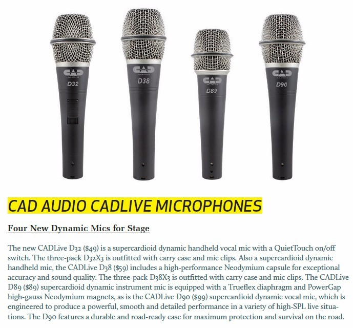 Car Audio Cadlive Microphones