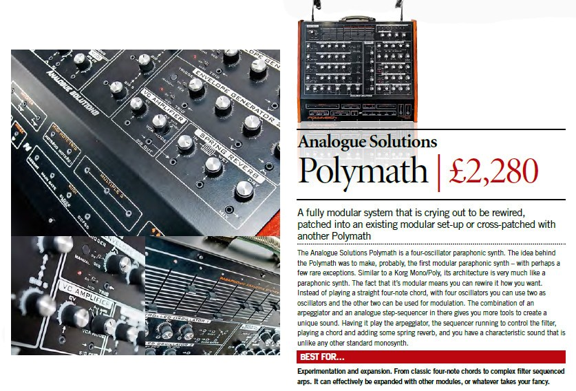 Analogue Solutions - Polymath