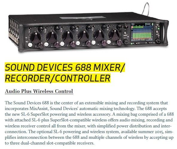 Sound Devices 668 Mixer / Recorder / Controller