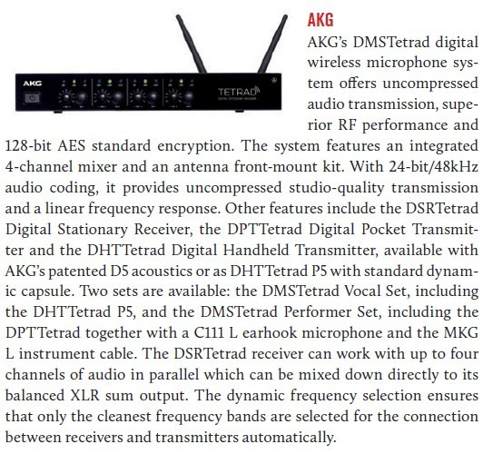 AKG DMSTetrad digital wireless microphone system